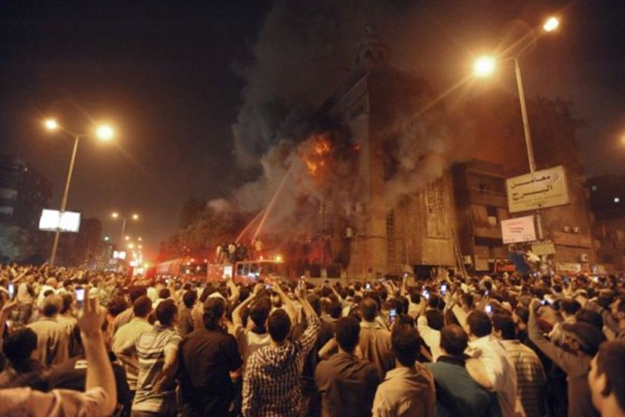 Coptic Church Burned Burn The Coptic Church of