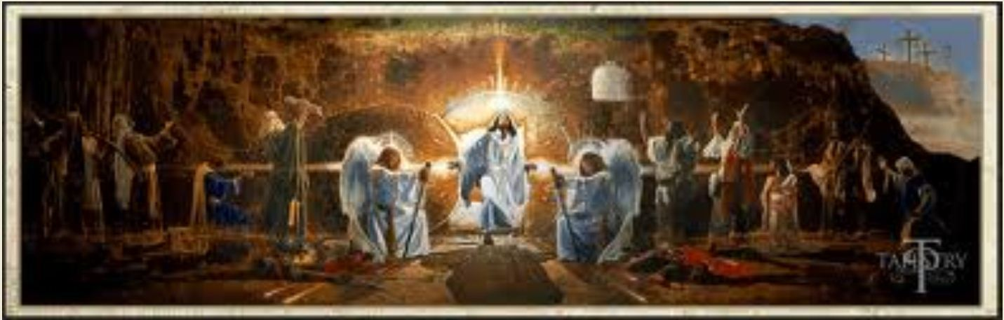 Jesus Ressurection At The Tomb Art Paintings