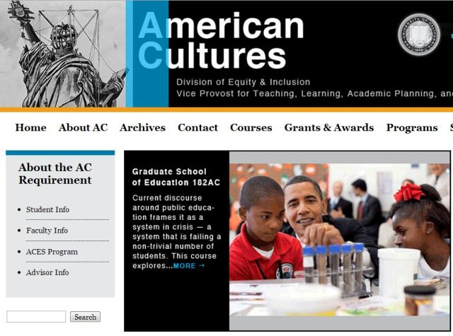 American Cultures homepage.Berkeley