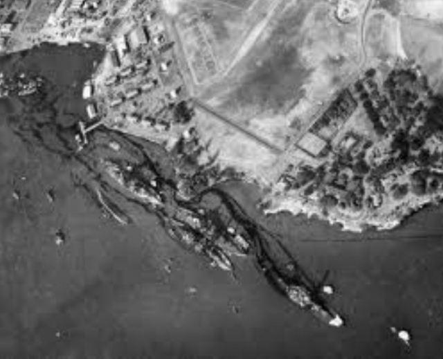 Battleship row.12.8.1941