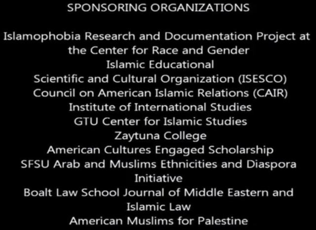Sponsors.Berkeley Islamophobia project