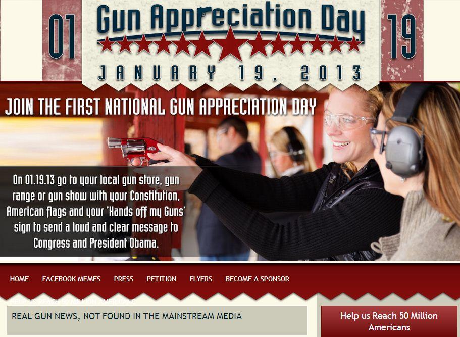 81859c9fe22 CELEBRATE THE FIRST ANNUAL NATIONAL GUN APPRECIATION DAY SATURDAY ...