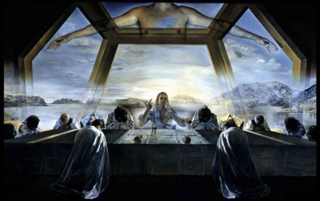 Unique view.Last supper