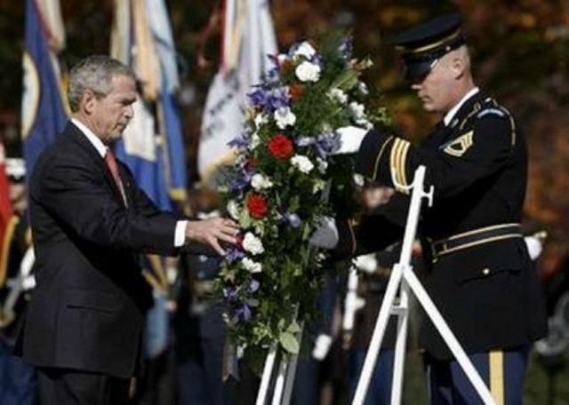 President Bush wreath