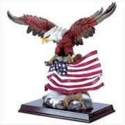 Eagle and Flag Sculpture