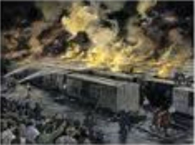 Pullman 1894 RR Car fire