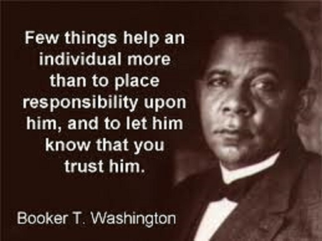 Booker T Washington.Message
